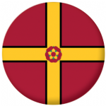 Northamptonshire County Flag 58mm Button Badge